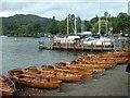 NY3703 : Row Boats for hire at Waterhead by Adie Jackson