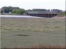 SD0894 : Railway bridge & Saltmarsh by N Chadwick