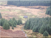NX4677 : White Laggan Bothy From White hill by Mark McKie