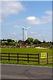 TL2668 : Wind Turbine and Mast at Wood Green Animal Shelter by Tiger