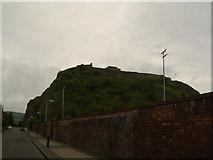 NS4074 : Dumbarton Rock from Castle Street by Stephen Sweeney