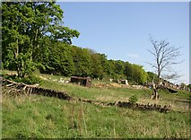 SE1323 : Old railway wagon in field, Brighouse by Humphrey Bolton