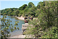 SX5550 : Yealmpton: old railway bridge by Martin Bodman