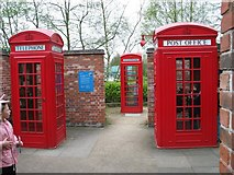SO9568 : Avoncroft Museum - Red Telephone Kiosks by Peter Walker