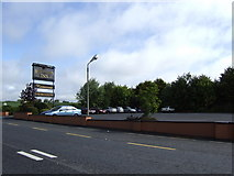 N9687 : Hunterstown Inn car park by Jonathan Billinger