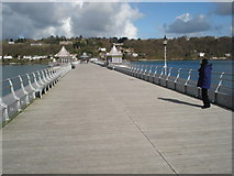 SH5873 : Looking Towards Anglesey from Bangor Pier by Trevor Rickard