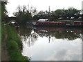 SO9160 : Dunhampstead canal basin and bridge by Trevor Rickard