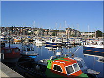 SY6778 : Early morning view across Weymouth Marina by Stephen Williams
