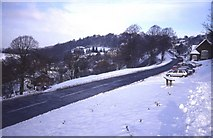 SO7643 : The Wyche car park on Jubilee Drive in the snow by Trevor Rickard