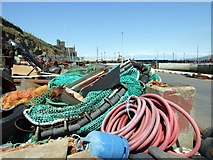 SC2484 : Peel harbourside, Isle of Man by kevin rothwell