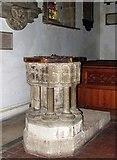 TL3706 : St Augustine, Broxbourne, Herts - Font by John Salmon