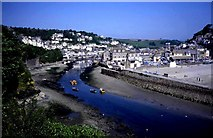 SX2553 : Looe Harbour at low tide by Trevor Rickard