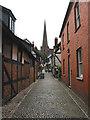 SO7137 : Church Lane, Ledbury by Pauline E