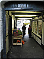 SO7137 : Shops in mews, Ledbury by Pauline E