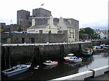 "SC2667 : Castletown harbour with the ""Gluepot ""and Castle Rushen by Chris Gunns"