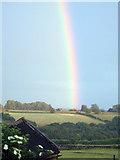 ST7773 : Rainbow over Marshfield Cricket Club by Cole Smith