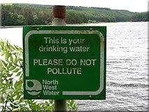 SD7217 : Sign next to Turton and Entwistle Reservoir by liz dawson