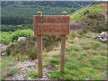 SE8394 : Footpath sign to Newtondale Halt on the North Yorkshire Moors Railway by Joe Regan