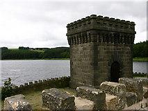 SD7217 : Water Tower, Turton and Entwistle Reservoir by liz dawson