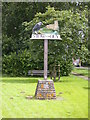 TL5260 : Stow cum Quy village sign by Keith Edkins