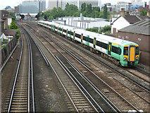 TQ3266 : Railway north of East Croydon Station by Stephen McKay