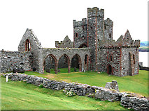 SC2484 : St German's Cathedral on St Patrick's Isle, Peel by Chris Gunns
