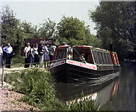 SU7451 : Queueing at Colt Hill Wharf, Basingstoke Canal by Dr Neil Clifton