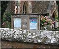 SO7119 : Notice board St.John the Baptist's Church by Pauline E