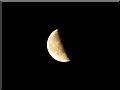 SU1982 : Waning moon over Swindon by Brian Robert Marshall