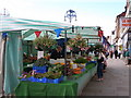 NZ4419 : The first market stall on entering Stockton market by Carol Rose