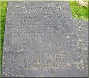 SE1321 : Grave stone in Rastrick Churchyard by Humphrey Bolton