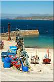 SW3526 : Boats at the jetty, Sennen Cove by Mari Buckley