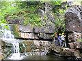 NY9028 : Waterfall by Helen Wilkinson