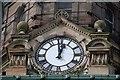 J3374 : Clock, Scottish Provident, Belfast by Albert Bridge