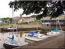 SN4562 : Aberaeron harbour by John Lucas