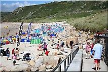 SW3526 : Sennen Beach in July by Tony Atkin