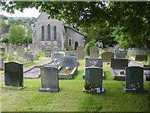 SK1781 : St Barnabas' Churchyard, Bradwell by William Metcalfe