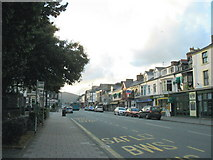 SH5638 : Porthmadog's High Street in the late evening by Eric Jones