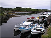 B7923 : Boats at Bunbeg Harbour by Kenneth  Allen