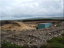 NY6148 : Quarry on Croglin Fell by David Brown