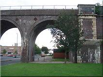 SO8455 : Worcester railway viaduct by Trevor Rickard
