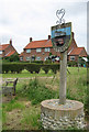 "TG1733 : Wickmere/Wolterton Village Sign with ""council houses"" by Zorba the Geek"
