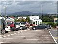 SO3808 : Raglan Garden Centre car park by Jonathan Billinger