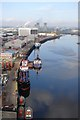 NZ4921 : The Tees looking from the transporter bridge by Steve Frost