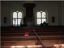 NH4591 : Inside Croick Church by Jude Dobson