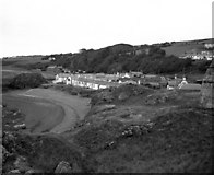 NS2515 : Dunure, beach and village, Ayrshire by Dr Neil Clifton