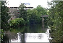 SE1537 : River Aire viewed from Baildon Bridge by Betty Longbottom