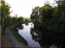 SD4861 : Lancaster Canal from Moor Lane bridge looking North by Robin Madge