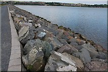 J4972 : Sea defences, Newtownards (3) by Albert Bridge