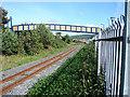 SN5881 : Footbridge Over The Railway by John Lucas